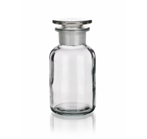 Sticla transparenta, gat larg si dop rodat, 250 ml