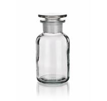 Sticla transparenta, gat larg si dop rodat, 500 ml